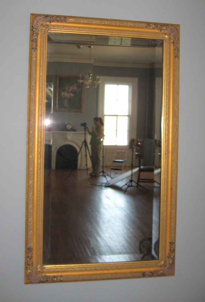 Audrey Vasey in the mirror