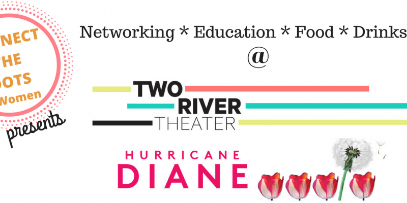 Connect the dots, Hurricane Diane, networking event in Red Bank