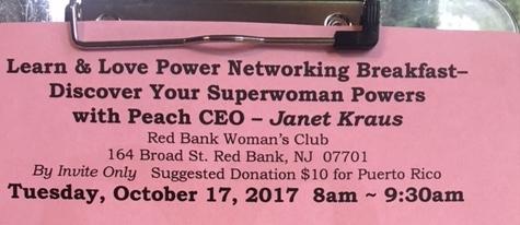 Learn & Love Power Networking Breakfast – Peach