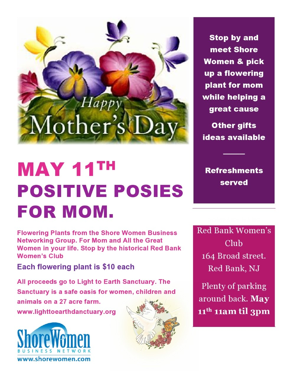 May 11 2019 Mothers Day Plant Sale