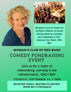 Woman's Club Comedy Event with Elaine Williams
